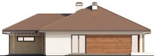Одноэтажный дом с гаражом для двух автомобилей и большим хозяйственным помещением