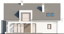 Коттедж с мансардой с одинарным гаражом