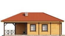 Привлекательный проект дачного дома с крытой террасой