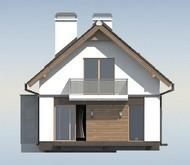 Проект оригинального дома для узкого участка с террасой над гаражом