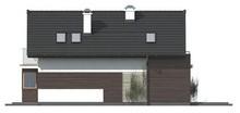 Проект аккуратного дома с мансардой для узкого участка