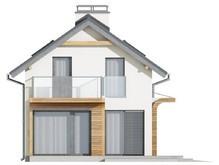 Проект усадьбы с оригинальным фасадом для большого участка