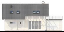 Проект коттеджа с просторной террасой на втором этаже