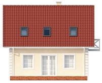 Проект аккуратного классического дома с двускатной кровлей