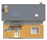 Симпатичный проект дома с 3-я спальнями на мансардном этаже