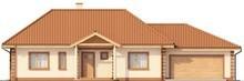 Проект одноэтажного коттеджа с гаражом в классическом стиле