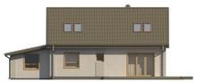Проект коттеджа с двумя спальнями в мансардном этаже