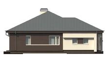 Просторный одноэтажный дом с большими окнами
