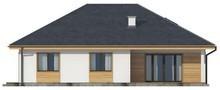 Проект одноэтажного коттеджа классического стиля с четырехскатной кровлей