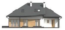 Проект коттеджа с мансардой и пристроенным гаражом