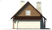 Экономичный проект дома с мансардой и гаражом