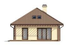 Проект просторного классического коттеджа с мансардой и 2 спальнями