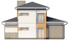 Проект двухэтажного коттеджа вытянутой формы