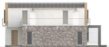 Проект ультрасовременного коттеджа с террасой над гаражом