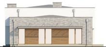 Проект стильного загородного коттеджа с плоской крышей