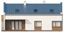 Проект двухэтажного загородного дома с террасой над гаражом
