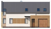 Проект современного загородного дома с мансардой и гаражом