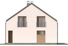 Проект 1,5-этажного дома с 3-я спальнями на втором этаже