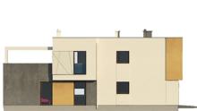 Проект модернового двухэтажного коттеджа с гаражом