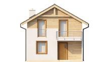 Проект мансардного дома с эстетичным современным фасадом