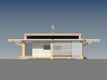 Одноэтажный современный коттедж с двумя спальнями