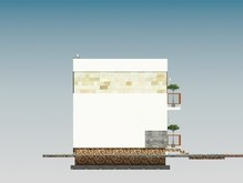 Красивый проект коттеджа с гаражом и мансардой в классическом стиле