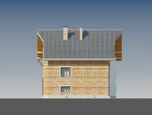 Проект трехэтажного классического особняка с кабинетом над гаражом