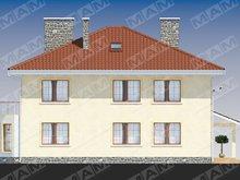 Проект коттеджа в классическом стиле с 3-я спальнями на втором этаже