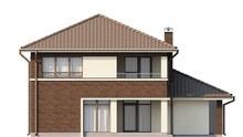 Проект 2-х этажного дома с пристроенным гаражом для 1-го автомобиля