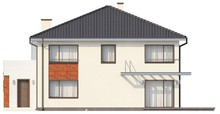 Проект двухэтажного коттеджа с застекленным балконом над гаражом