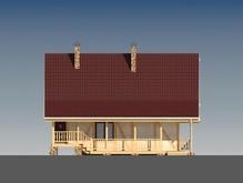 Каркасный дом с мансардой