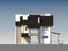 Двухэтажный светлый дом с оригинальной кровлей