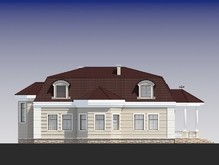 Большой особняк в классическом стиле с пятью спальнями на втором этаже