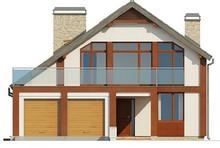 Проект дома с просторной террасой над гаражом