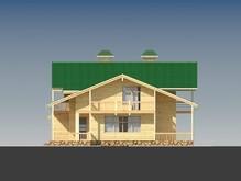 Проект деревянной усадьбы с гаражом