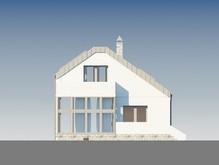 Загородный дом с огромным панорамным окном и гаражом в цокольном этаже