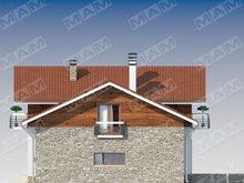 Проект дома с мансардным этажом и гаражом