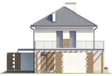 Двухэтажный загородный коттедж с большой террасой