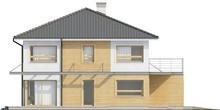 Проект классического двухэтажника с удлинённым сдвоенным гаражом