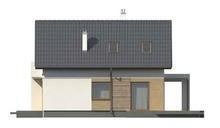 Проект дома с балконом и пристроенным гаражом