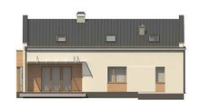 Необычный современный дом с мансардой и кухней студио