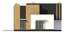 Двухэтажный дом оригинальной формы с 2-я гостиными