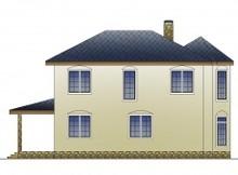 Проект двухэтажного дома со светлой гостиной