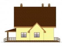 Уютный дом с мансардой