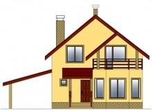Загородный дачный дом с мансардой