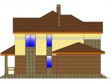 Загородный коттедж с фактурным фасадом