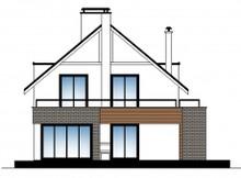 Современный дом с мансардой для узкого участка
