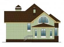Загородный коттедж с кирпичным фасадом в английском стиле