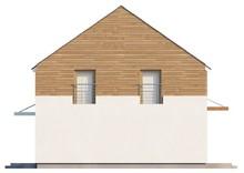 Проект коттеджа с просторной гостиной и кухней студио