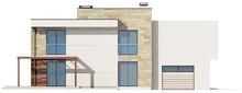 Проект двухэтажного просторного коттеджа с плоской крышей
